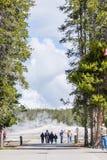 Géiser fiel viejo - parque nacional Yellowstone de Yellowstone nacional Foto de archivo