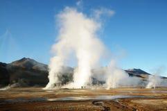 Géiseres del EL Tatio, Atacama, Chile Fotos de archivo libres de regalías