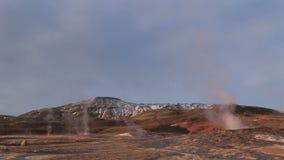 Géiseres en Islandia almacen de video