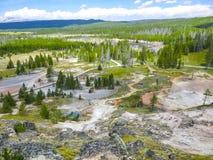 Géiseres en Yellowstone Imágenes de archivo libres de regalías