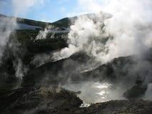 Géiseres y aguas termales en Kamchatka Fotografía de archivo libre de regalías