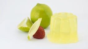 Gélatine de citron Photographie stock libre de droits