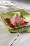 Gélatine triangulaire de fraise Photos libres de droits