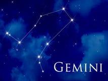 Géminis de la constelación ilustración del vector
