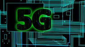 Généré par ordinateur, animation de technologie de la connectivité 5G illustration libre de droits