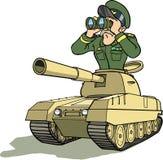 Général dans le battletank Image stock