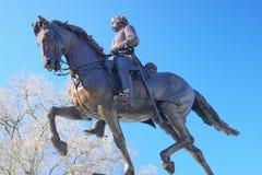 Général de guerre civile à cheval Photo stock