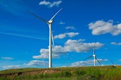 Générateur d'énergie éolienne d'Eco sur la prairie Image libre de droits