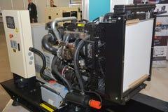 Générateur de secours diesel avec le mécanisme ouvert G?n?rateur de r?serve image stock