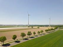 Générateur de turbine de vent dans le domaine Photos libres de droits