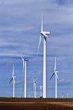 Générateur de vent sur le cordon de ferme dans le Texas Photographie stock