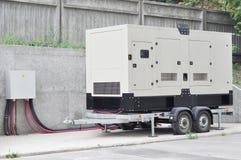 Générateur diesel industriel Générateur de réserve Le générateur diesel industriel pour l'immeuble de bureaux s'est relié au pann photos libres de droits