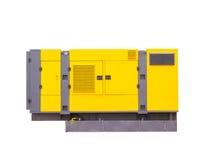Générateur diesel mobile pour le courant électrique de secours D'isolement sur le fond blanc Image libre de droits