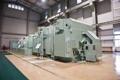 Générateur et turbine dans une centrale  image stock