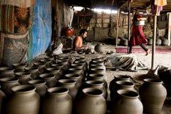 Générateur indien de poterie Images libres de droits