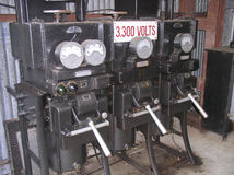 Générateur industriel image stock
