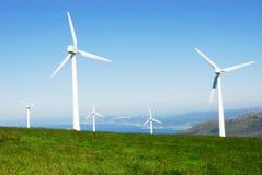 Générateurs éoliens Image stock