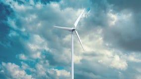 Générateurs d'énergie éolienne sur le fond de ciel Photo stock