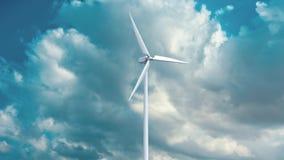 Générateurs d'énergie éolienne sur le fond de ciel Photos stock