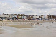 Générateurs de vacances sur la plage de Weymouth Photographie stock libre de droits