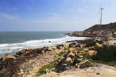 Générateurs de vent à la côte image libre de droits