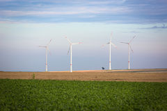 Générateurs de vent dans Rhin-Hesse, Allemagne Images stock