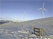 Générateurs de vent en hiver Photographie stock