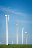 Générateurs de vent, moulins à vent, l'électricité image libre de droits