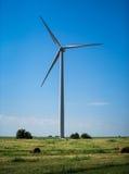 Générateurs de vent, moulins à vent, l'électricité Photo stock
