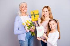 Génération de maternité de liaison de confiance de soin d'amitié de relations Photos libres de droits
