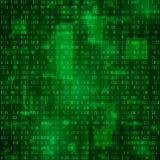 Génération des données binaires aléatoires L'information de codage Fond de vecteur de Matrix illustration stock