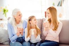 Génération l de personnes de relations d'amitié de confort de grands-parents Photos libres de droits