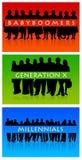 Générations Image libre de droits
