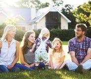 Générations de famille Parenting le concept de relaxation d'unité Image stock