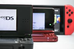 Générations de Nintendo Photos stock