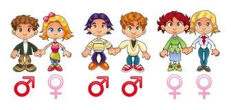 Género - pares ilustração do vetor