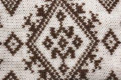 géneros de punto del fondo Lanas hechas punto con el ornamento, textura Imagen de archivo libre de regalías
