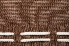 géneros de punto del fondo Lanas hechas punto con el ornamento, textura Fotografía de archivo libre de regalías