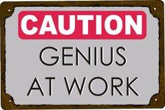 Génie de précaution au travail illustration libre de droits