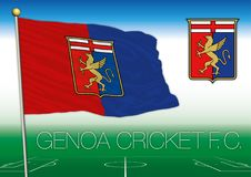 GÉNOVA, ITALIA, AÑO 2017 - campeonato del fútbol de Serie A, bandera 2017 del equipo de Génova