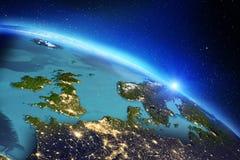 Géographie de la terre de planète rendu 3d Images libres de droits