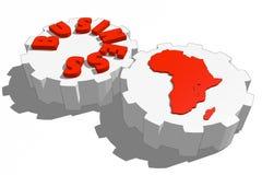 Géographie et affaires Photos libres de droits