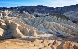 Géologie érodée de point de Death Valley Zabriskie images libres de droits