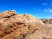 Géologie côtière rocailleuse, péninsule de Yorke photo stock