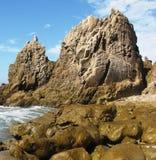 Géologie de Corona del Mar Images libres de droits