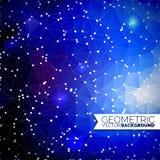 Géométrique abstrait Conception de triangle avec la forme polygonale et cercle blanc pour l'illustration sociale de réseau Photographie stock