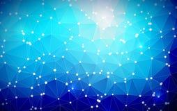 Géométrique abstrait Conception de triangle avec la forme polygonale et cercle blanc pour l'illustration sociale de réseau Photos libres de droits