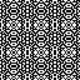 Géométrique abstrait Configuration sans joint Ornamnet simple noir et blanc Photographie stock libre de droits