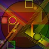 Géométrique abstrait Illustration de trame Photo libre de droits