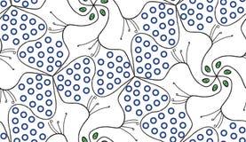 Géométrique abstrait silhouettes de paon de schéma disposées dans la formation de roue pour une sensation de kaléidoscope Configu illustration libre de droits